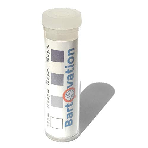 Chemical Test - Sanitizer Strength Iodine Test Strips (Pack of 100 Strips) for Restaurants