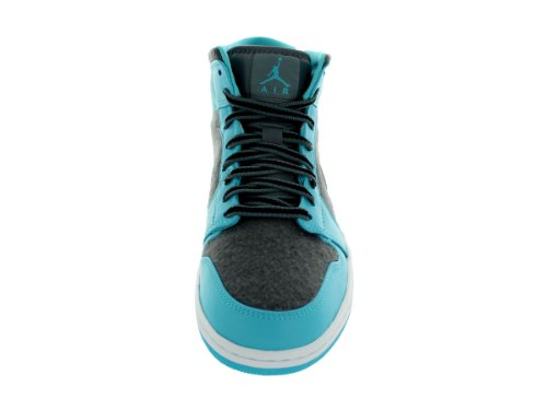 Nike Air Jordan 1 Mid Black Blue Mens Trainers