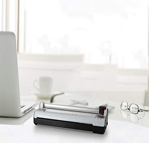 DJgold A3 A4 Thermal /& Cold Laminator 3 Minutes Warm-up 250mm//min Laminate Speed with Built-in Trimmer//Round Corner 20 Pouches for Home /& Office Use
