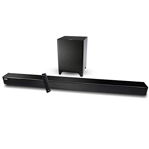 LyxPro Sound Bar System Bluetooth Soundbar Speaker Plus Wireless Subwoofer for TV, Home Theater, PC, Cellphone, Tablet & More, Includes Remote Control, DC Adapter, Wall Mount Kit & 3.5mm Cable (Cert