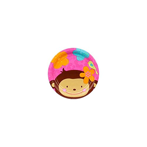 Floral Monkey Cake Plates (8-pack) -