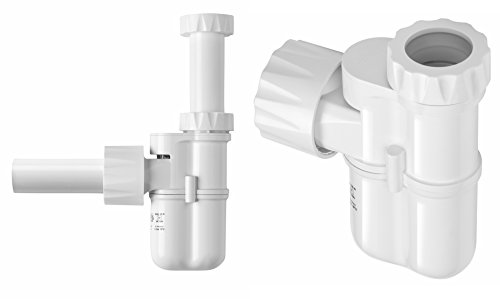 White Integrated Trap and Air Admittance Valve 1-1//4 Outlet Studor 20395 Trap-Vent 2