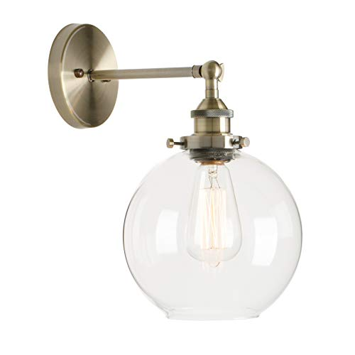 Permo Wall Sconce Vintage Industrial 1-Light Rustic Wall Mount Light Fixture with 7.9