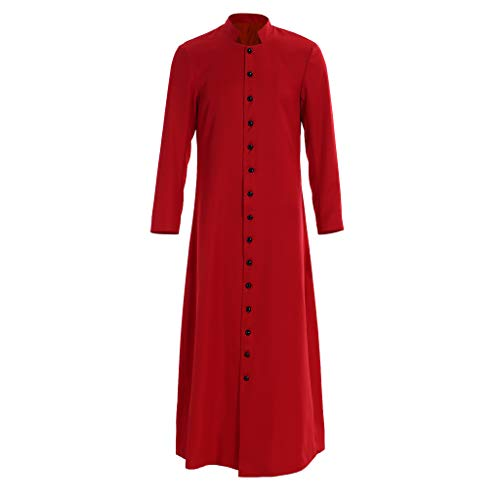 (1791's lady Single Breasted Minister Choir Cassock Robe Clergy Pulpit Vestment (XL:Height71-73 Bust46-48 Waist40-42 Hips44-46, Available))