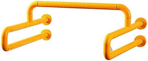 HJXSXHZ366 Ältere Patienten Hilfshandlauf Haltegriffe im Bad WC Neigung von Stangen im Bad bei schwangeren Frauen verwendet, der behinderte ältere gelb Handlauf aus Edelstahl (Color : Yellow)