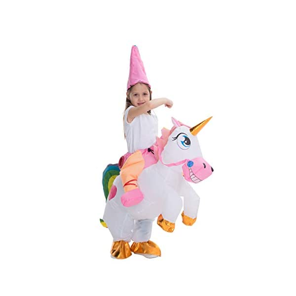 Spooktacular Creations Inflatable Costume Unicorn Riding a Unicorn Air Blow-up Deluxe Halloween Costume 9