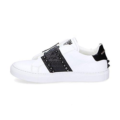 Wsc0771pte094n02 Mujer Cuero Plein Zapatillas Blanco Philipp 8TwEqRq