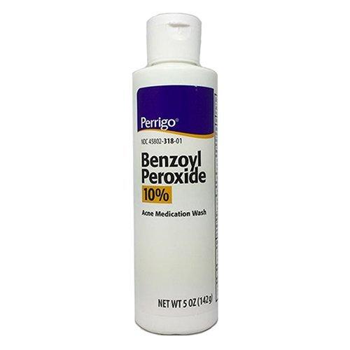 Perrigo 10% Benzoyl Peroxide Acne Medication Face Wash 5oz (Quantity 1)