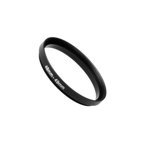 - Fotodiox Metal Step Up Ring Filter Adapter, Anodized Black Aluminum 48mm-49mm, 48-49 mm