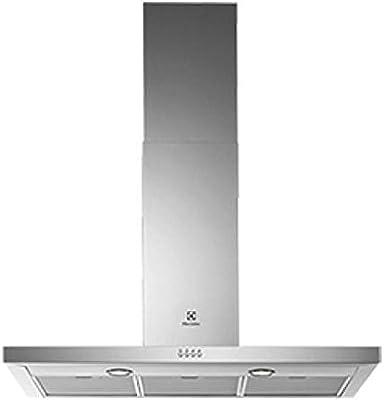 Electrolux EFC90475OX - Campana (730 m³/h, Canalizado/Recirculación, 51 dB, De pared, Transparente, Acero): Amazon.es: Hogar