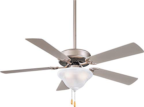 (Minka Aire F548L-BS Contractor Uni-Pack 52'' Ceiling Fan with LED Light, Silver)