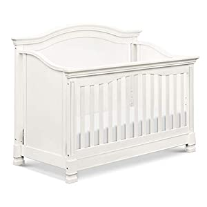 Million Dollar Baby Classic Louis 4-in-1 Convertible Crib in Warm White, Greenguard Gold Certified