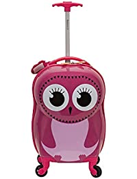 Jr. Kids' My First Luggage-Polycarbonate Hard Side Spinner, OWL