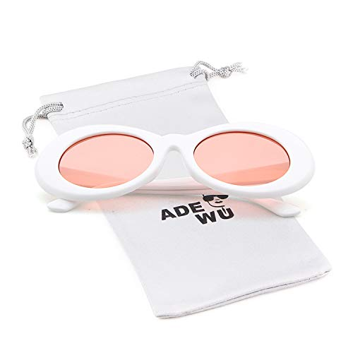 Lunettes Clout White de Goggles Ovales Soleil ADEWU Pink zvFSwqPv