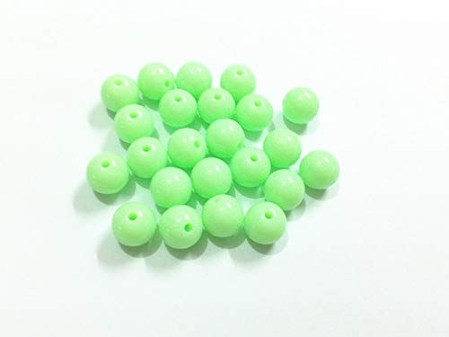 (Calvas (Choose Size First) 6mm/8mm/10mm/12mm/14mm/16mm/18mm/20mm Pastel Green Small Acrylic Solid Beads - (Item Diameter: 10mm 900pcs))