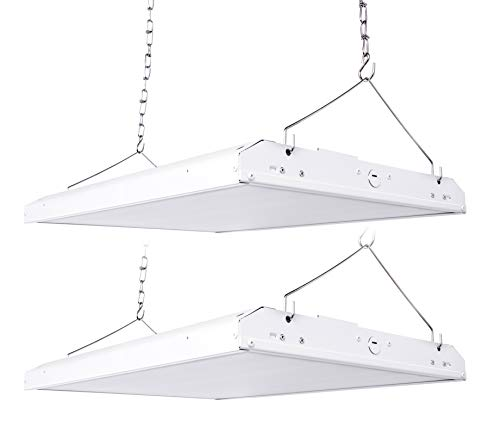 Hyperikon 2 Foot LED High Bay Lighting Fixture, 700 Watt Replacement (220W), Commercial Indoor Linear Lighting, 5000K, UL, 2 Pack