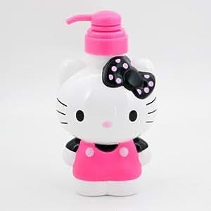 Hello Kitty Pump Bottle: Black Polka Dot Bow