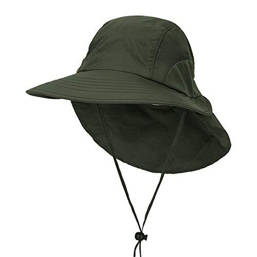 - BOOBODA Summer Men Sun Hat Quick-Drying Big Sunshade Hat Women Cap for Hiking Camping Outdoor Riding Sunhat(Army Green)