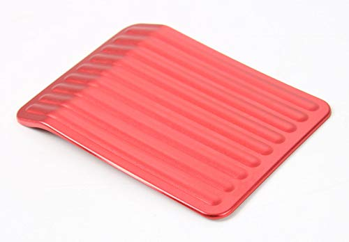 wroadavee Red Aluminium Pedal Left Foot Pedal Cover 1pcs for Ford F150 F-150 2015-2019