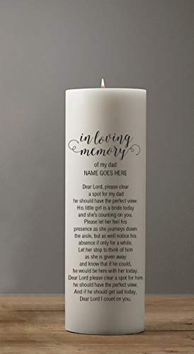 - In Memory Candle Honoring a Deceased Mother or Father for Weddings