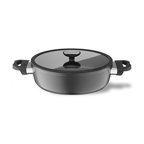 Berndes 021265 Base Induction Aluminium Non-Stick Stewing Pot with Glass Lid 24 cm 2.25 litres ()