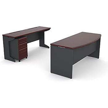 Amazoncom Altra Pursuit Executive Desk CherryGray Kitchen