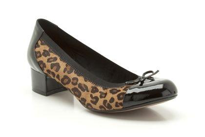 2e53ab205c75c Image Unavailable. Image not available for. Colour: Clarks Womens Balcony  Poem Leopard Print Smart Shoes