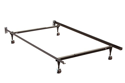 Milton Greens Stars Ace Adjustable Twin To Full Bed Frame with Rug Rollers, Twin/Full