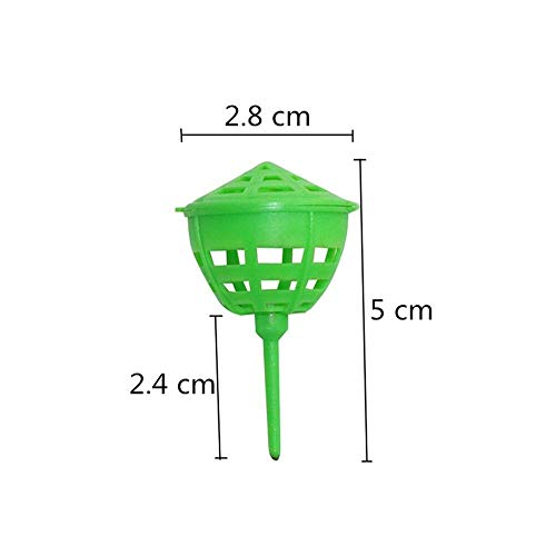 - BIG-DEAL, Garden Tools,_Green Fertilizer Cover Basket Garden Planting Bonsai Potted Plant Automatic Fertilization Device Fertilizer Box with Lid 10 Pcs - ( Color:Light Green )