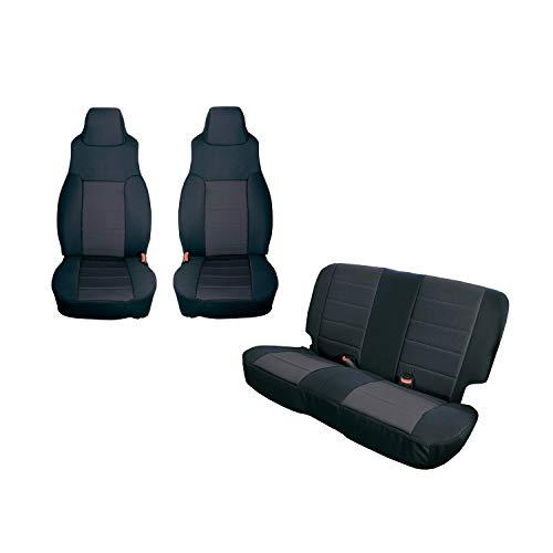 Rugged Ridge 13293.01 Black Seat Cover Kit, 2003-2006 Jeep Wrangler TJ, 2 Pack