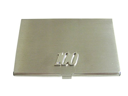 Silver Toned 100 Years Business Card Holder -