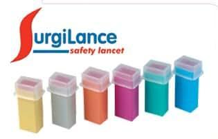 Amazon Com Surgilance Needle Safety Lancet 2 2mm Orange