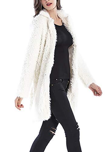 Abrigos Larga Moda Ropa Outerwear Termica Chaqueta Cómodo Mujer Invierno Beige Cardigan Elegantes Otoño Largos Manga Polares Casual Chaquetas Anchas Plush r7vSUr