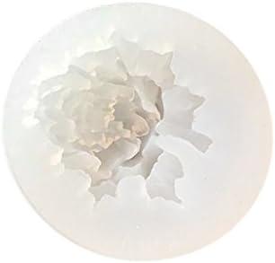 dailymall 3Dローズシリコーン型Sugarcraft樹脂ポリマー粘土石膏型DIYジュエリーチャーム