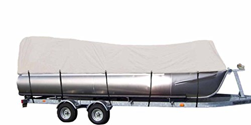 (iCOVER Water Proof Heavy Duty Pontoon Boat Cover,Fits Pontoon Boat 21ft to 24ft Long and Beam Width up to 102in, Grey PB6303B)