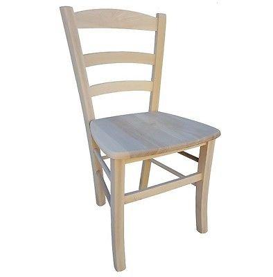 Sedie In Legno Grezzo.Sedia Paesana Seduta Massello Sedie In Legno Faggio Naturale Grezzo Da Verniciare Casa Cucina Giardino Ristorante
