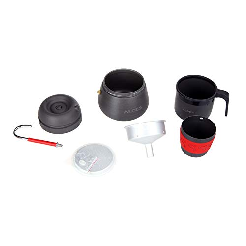 Farway Camping Hiking Coffee Maker Outdoor Appliances Anodized Aluminum Portable 350ml Coffee Pot with 2 Cups Coff