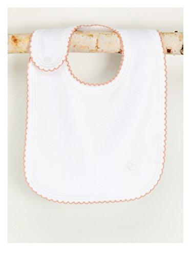 - Baby Noomie Pima Cotton Baby Bib White/Rose