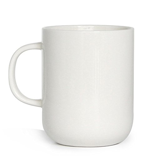 (Smilatte 15 Ounce Porcelain Coffee Mug, M008 Novelty Blank Ceramic Cup for Tea, Cocoa,)