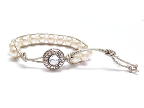champagne-pearl-beaded-leather-wrap-bracelet