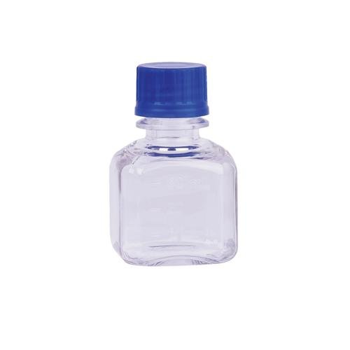 Wheaton Science Products WPBGC0250SB Square Media Bottle, Sterile, PETG, 250 mL Volume (Case of 24)