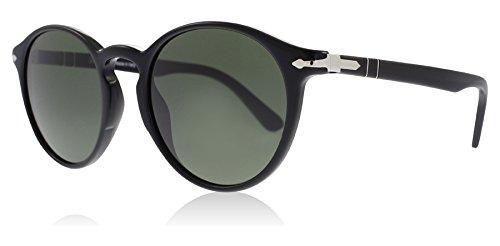 5568878ea Persol PO3171S 95/31 Black PO3171S Round Sunglasses Lens Category 3 Size  49mm