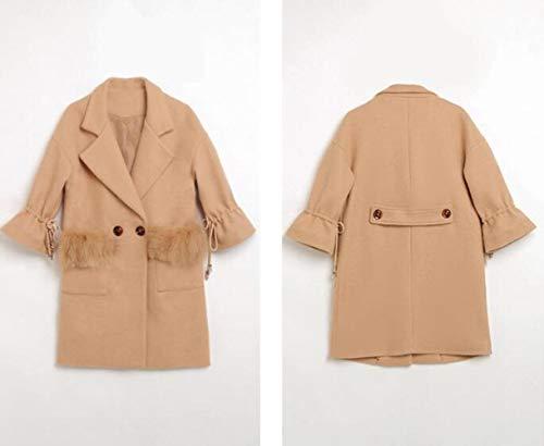 Coat Autunno donna per a vento caldo Donna Autunno Inverno cotone In Giacca One lunga Ambience E Lana in Moda Range Inverno Ab High Giacca pqF1dxpP