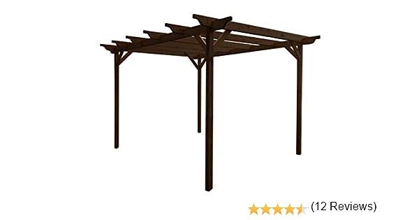 GMS TIMBER LTD Kit de pérgola de jardín de madera – Exclusiva gama de pérgola – más grande en Amazon – verde claro o rústico acabado marrón: Amazon.es: Jardín