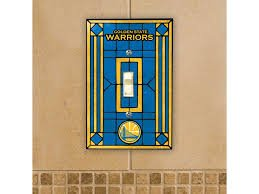NBA Golden State Warriors Art-Glass Single Switch Plate Cover by Memory Company