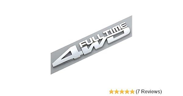 Chrome 3D Metal 4 Wheel Drive Logo Side Fender Rear Trunk Emblem Badge Decals Sticker for All 4 Wheel Drive Car Models EmbRoom 4WD Full TIME