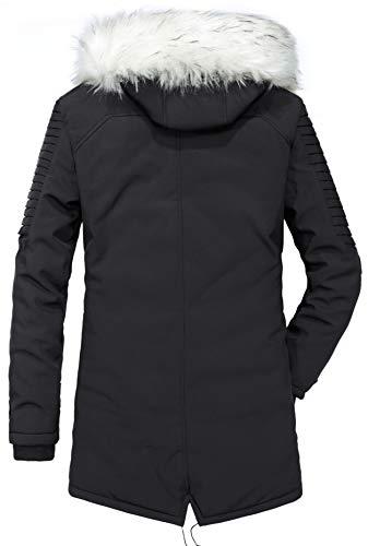 QQ2MM Homme Hiver Nouveau Multi-Poche À Capuche Blousons Outdoor Coupe-Vent Veste Manteau Col de Fourrure Détachable Men…