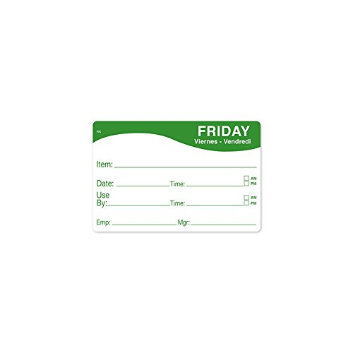 DayMark 1124675 ReMark 2 x 3 Friday Day Label - 500 / RL by DayMark Safety Systems (Image #1)