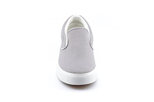 Flat Sneakers Flats On KIKI Canvas Comfort Soft Women's Cushioned Shoes CALICO Slip Grey RZw6wx