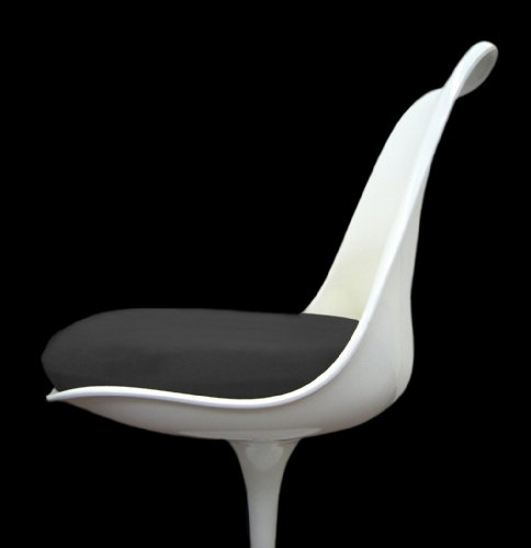 Slip-on Cushion Cover for Saarinen Tulip Side Chair (Black)